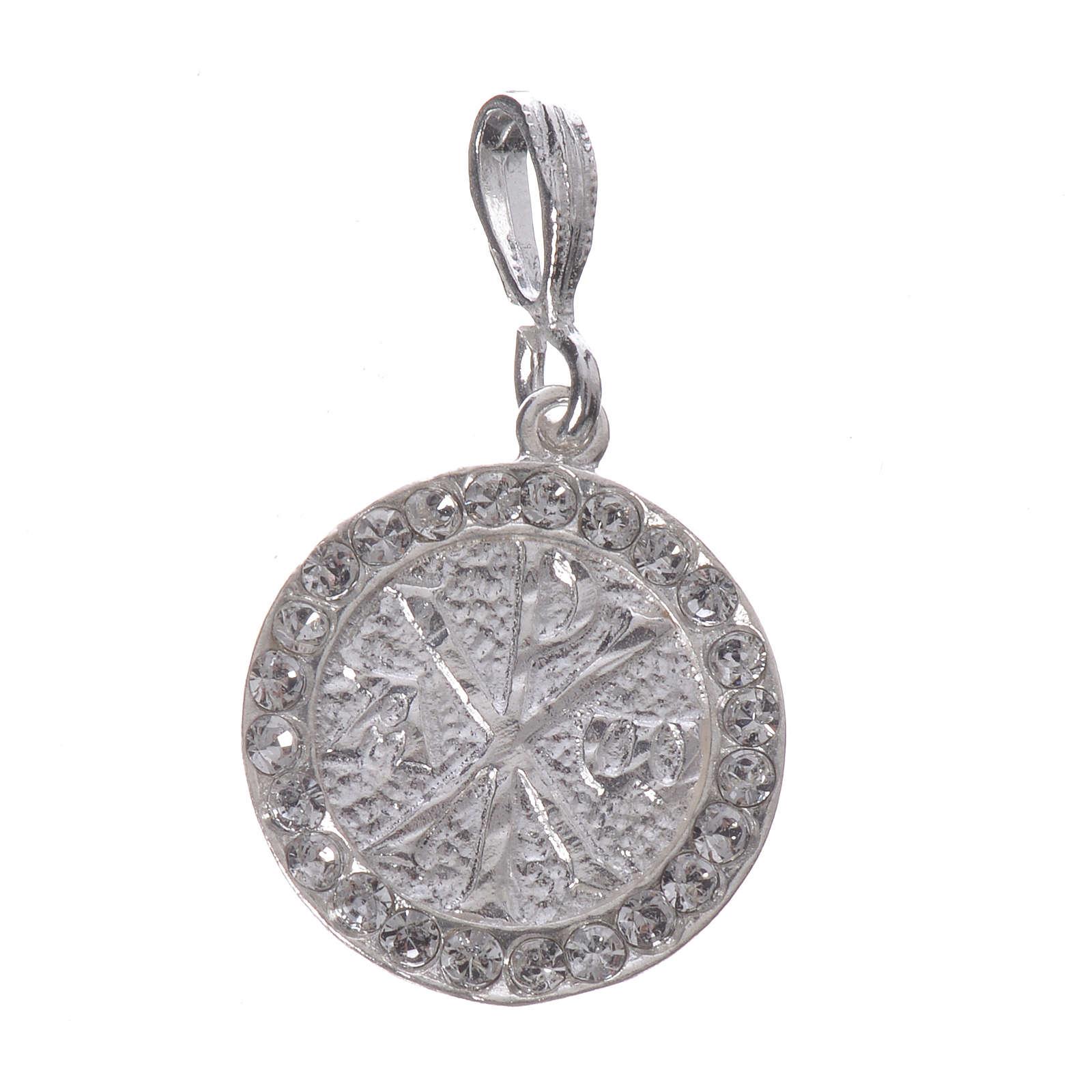 Zawieszka srebro 800 Swarovski biały Pax 4