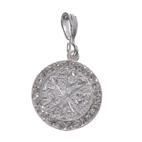 Zawieszka srebro 800 Swarovski biały Pax 1
