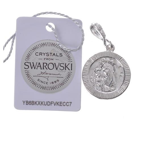 Zawieszka srebro 800 Swarovski biały Pax 2