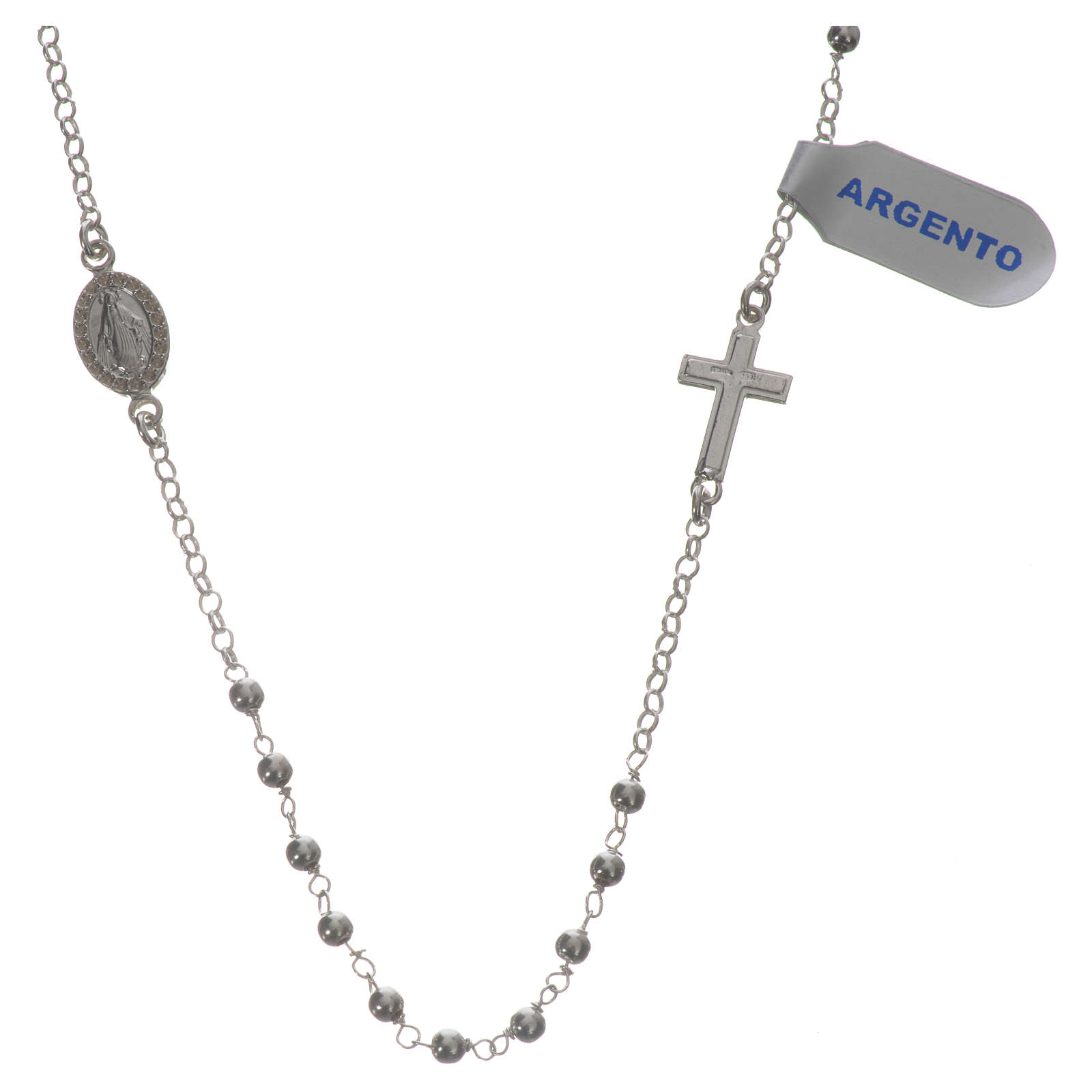 Necklace in 925 silver with Miraculous Medal 3mm 4