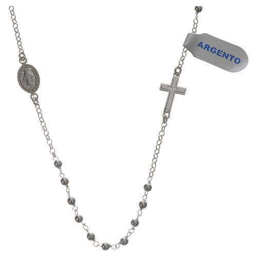 Necklace in 925 silver with Miraculous Medal 3mm 1