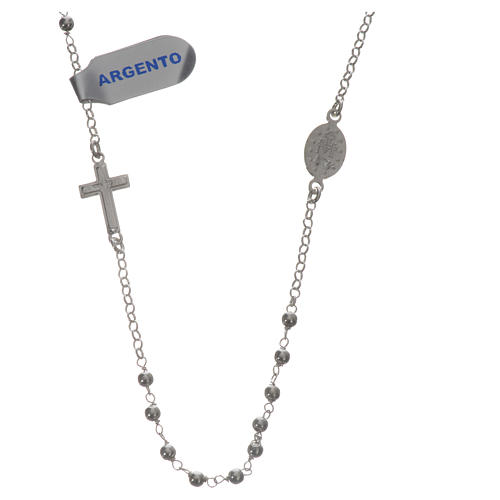 Necklace in 925 silver with Miraculous Medal 3mm 2