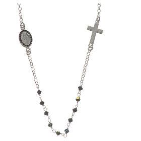 Collar Plata 925 y Swarovski negro Milagrosa 3 mm s1