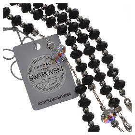 Rosary beads in 925 silver and black Swarowski 6mm and Pater bead 8mm s4