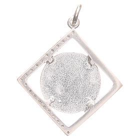 Ciondolo argento 800 Madonna Lourdes 1,5x1,5 cm s2