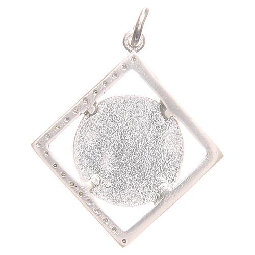 Ciondolo argento 800 Madonna Lourdes 1,5x1,5 cm 2