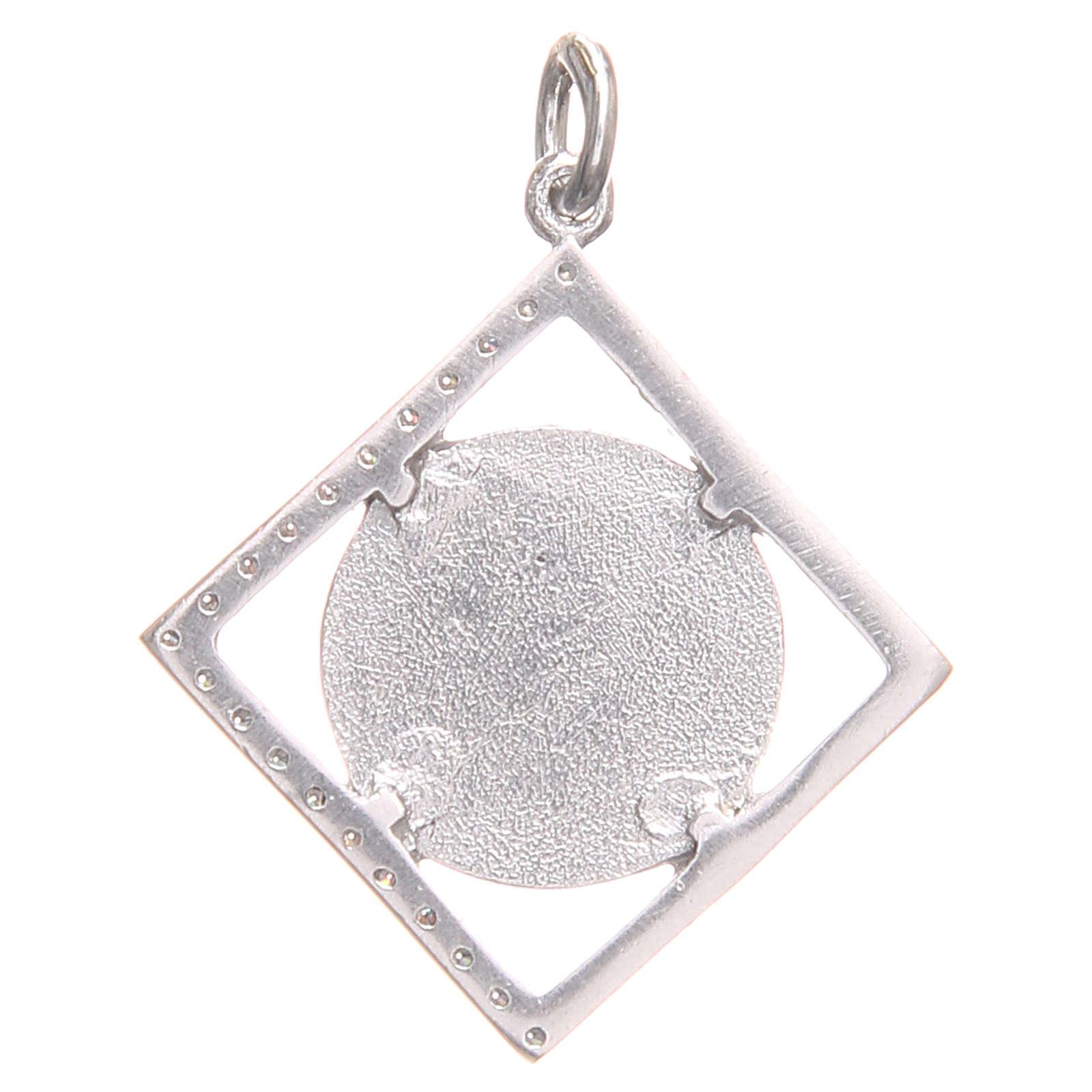 Ciondolo argento 925 Croce San Benedetto 1,6x1,6 cm 4