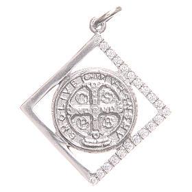 Ciondolo argento 925 Croce San Benedetto 1,6x1,6 cm s1