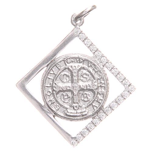 Ciondolo argento 925 Croce San Benedetto 1,6x1,6 cm 1