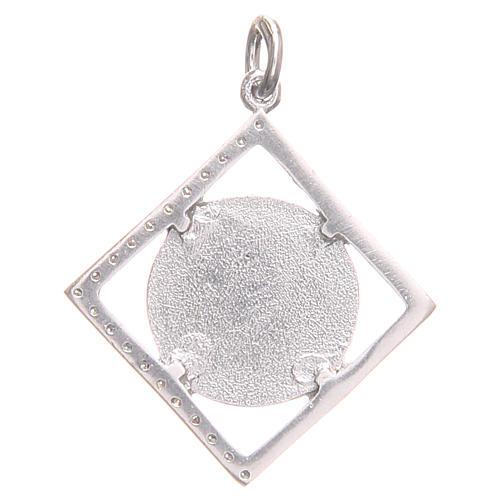 Ciondolo argento 925 Croce San Benedetto 1,6x1,6 cm 2