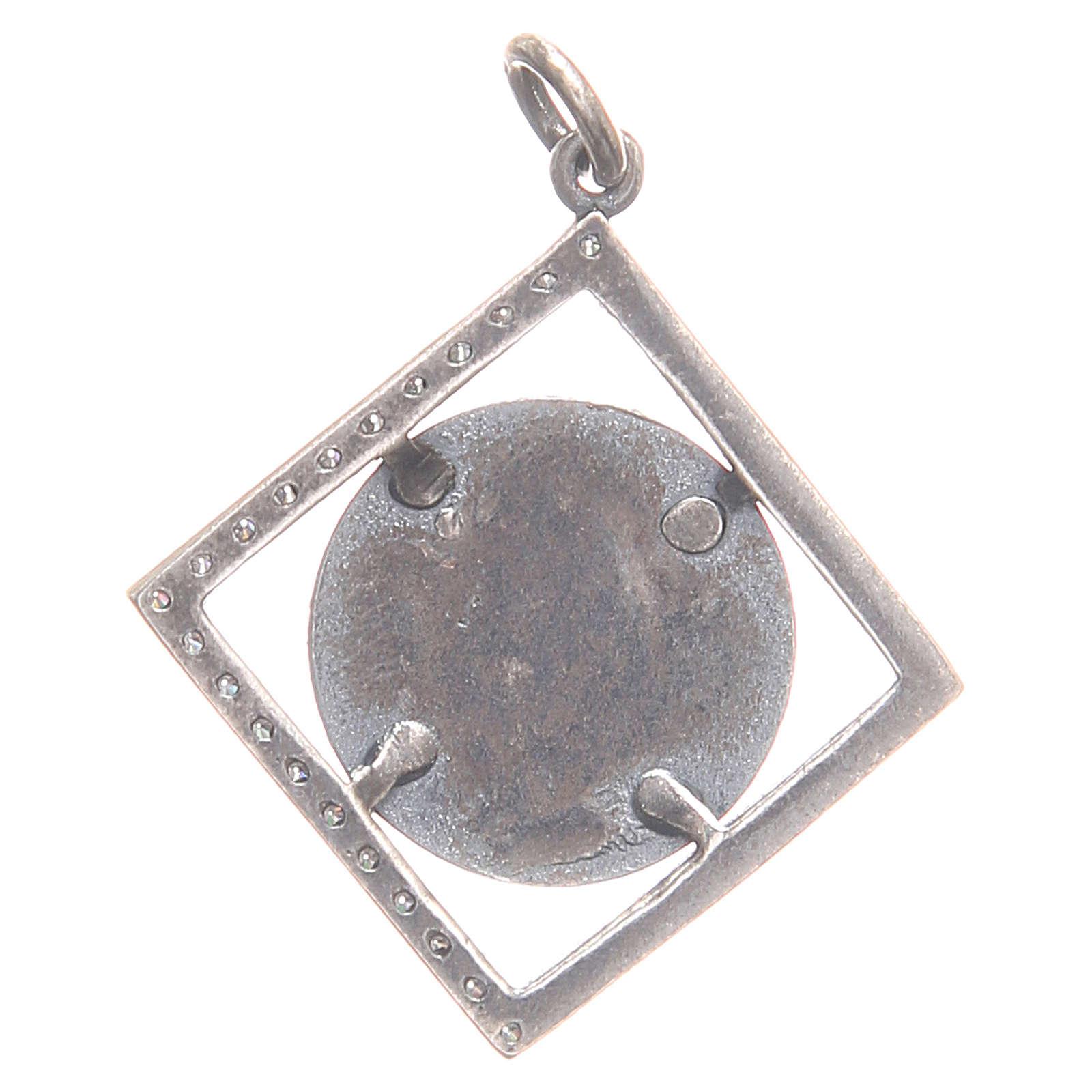 Pendentif argent 800 Vierge Miraculeuse 1,6x1,6 cm 4