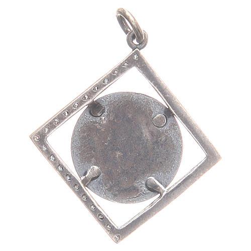 Pendentif argent 800 Vierge Miraculeuse 1,6x1,6 cm 2