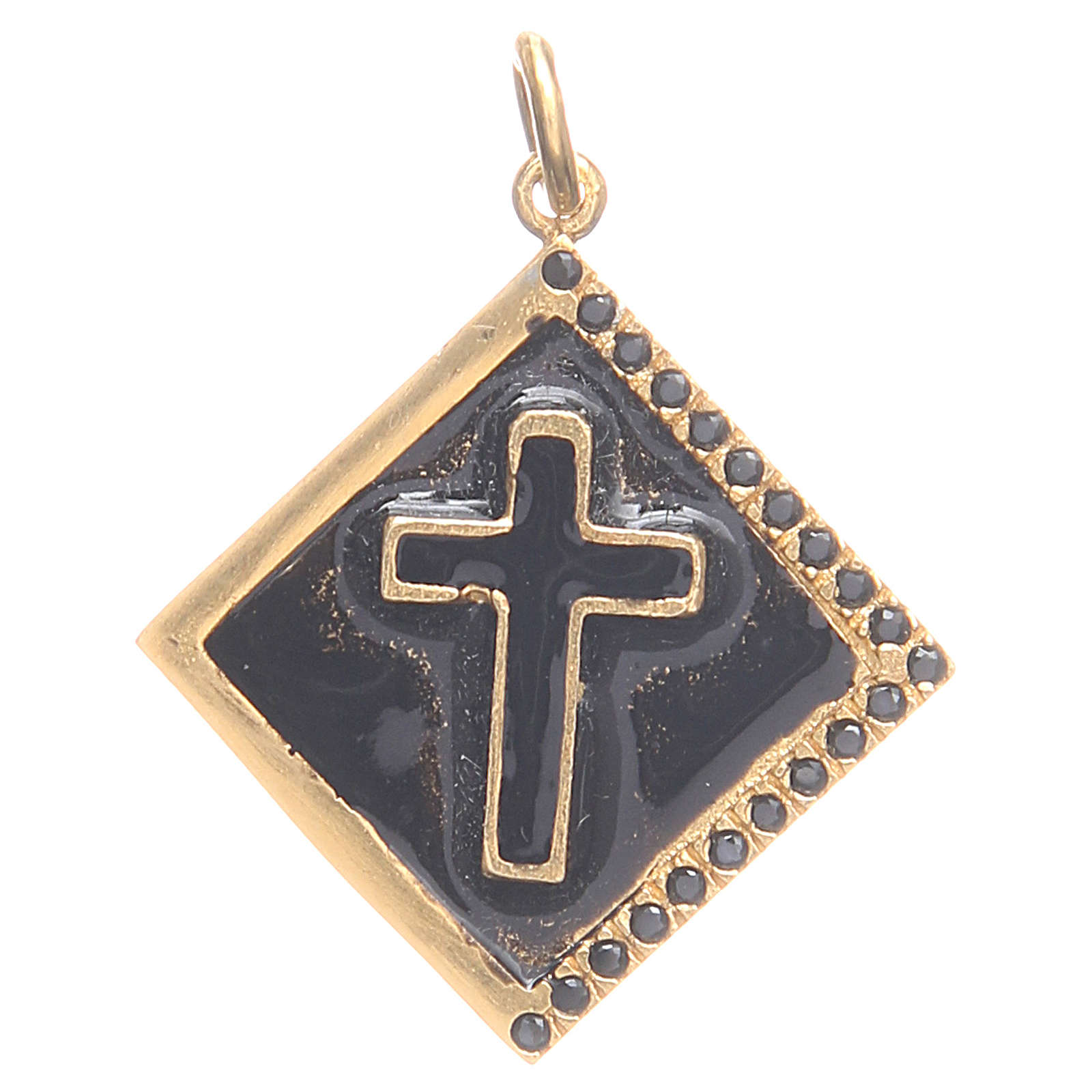 Pendant charm in 925 silver with cross 1.7x1.7cm 4