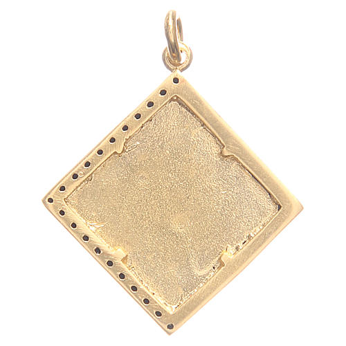 Pendant charm in 800 silver with cross 1.7x1.7cm 2