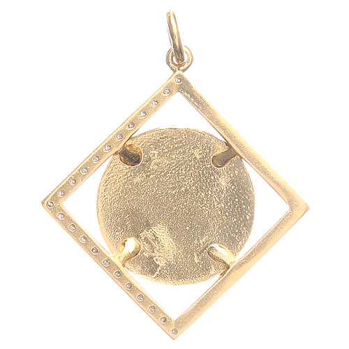 Ciondolo argento 925 Papa Francesco 1,8x1,8 cm 2