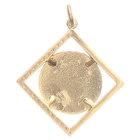 Pendant charm in 800 silver with Pope Francis 1.8x1.8cm s2