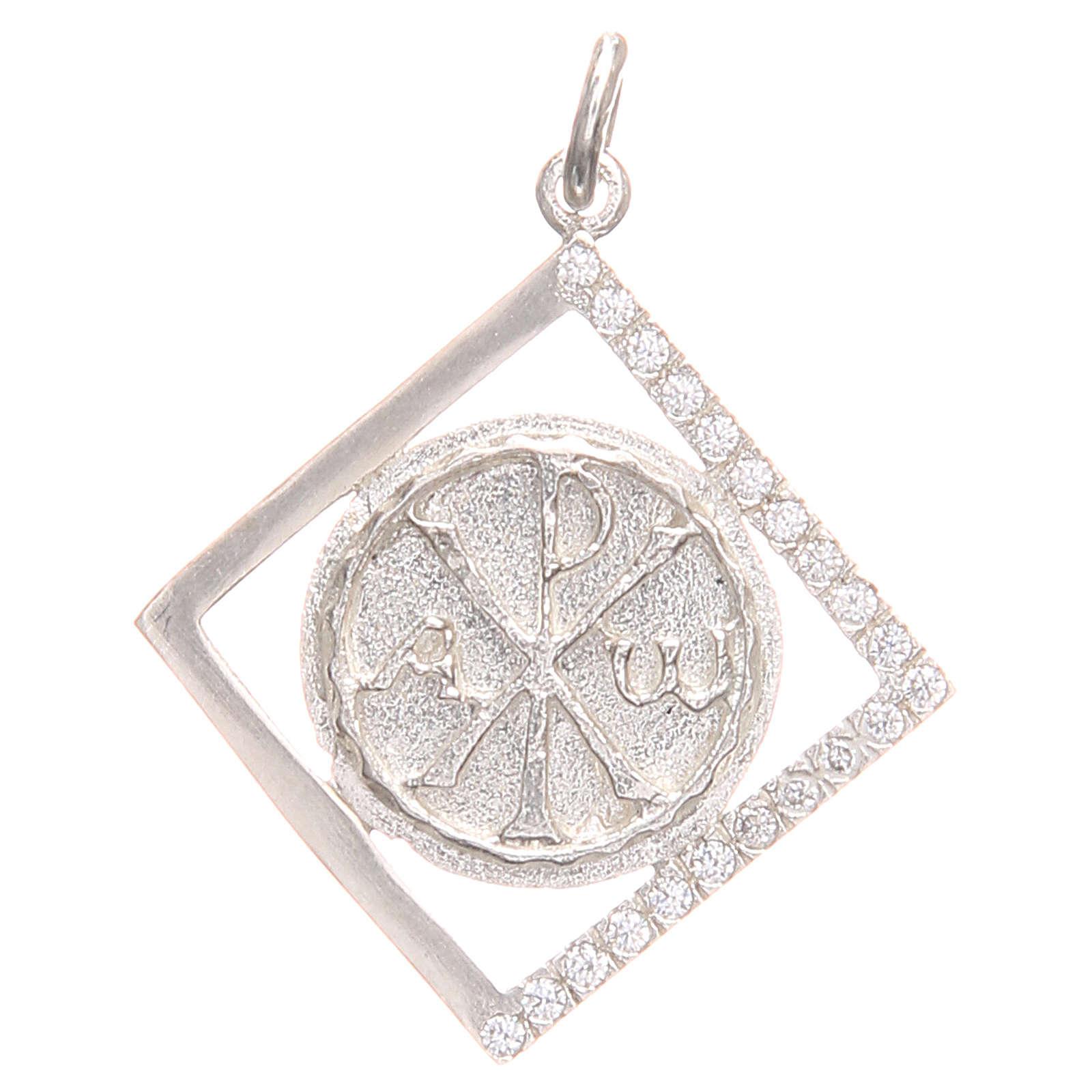 Ciondolo argento 800 simbolo PAX 1,7x 1,7 cm 4