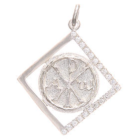 Pendant charm in 800 silver with Pax symbol 1.7x1.7cm s1
