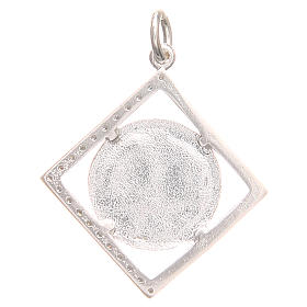 Pendant charm in 800 silver with Pax symbol 1.7x1.7cm s2