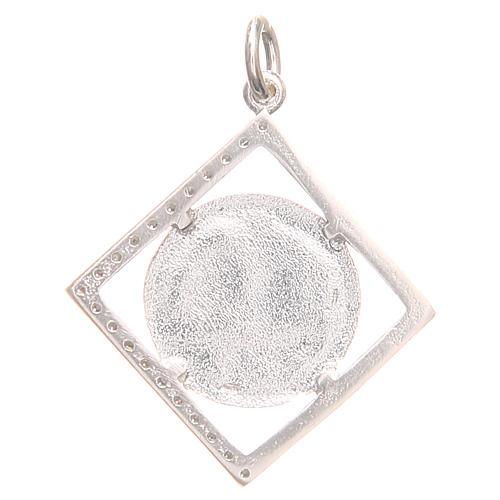 Pendant charm in 800 silver with Pax symbol 1.7x1.7cm 2