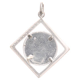 Pendant charm in 925 silver with Raphael's angel 1.7x1.7cm s2