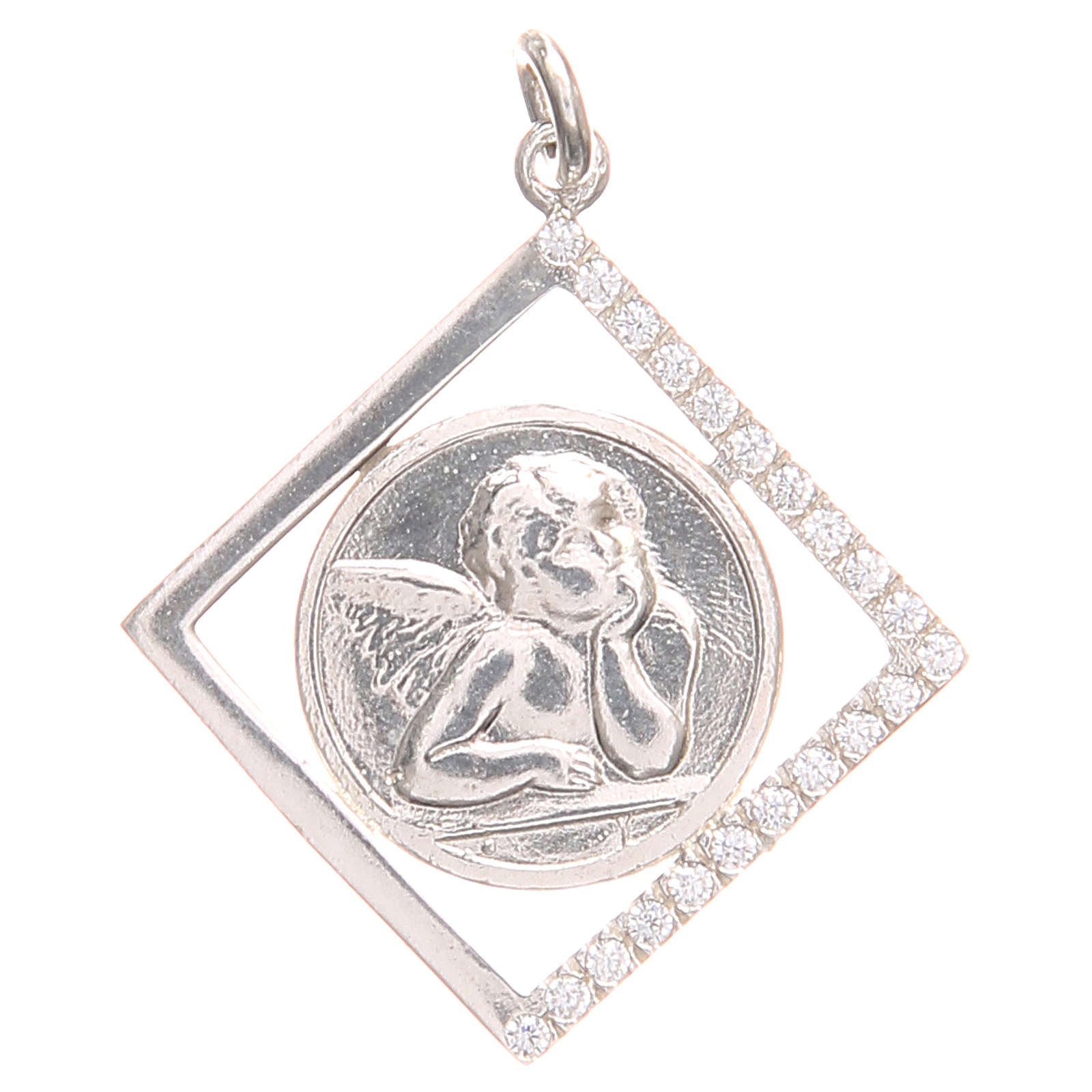 Pendant charm in 800 silver with Raphael's angel 1.7x1.7cm 4