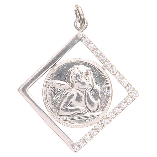 Pendant charm in 800 silver with Raphael's angel 1.7x1.7cm 1