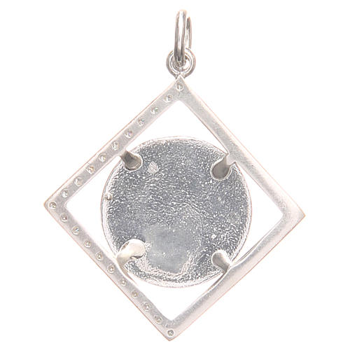 Pendant charm in 800 silver with Raphael's angel 1.7x1.7cm 2