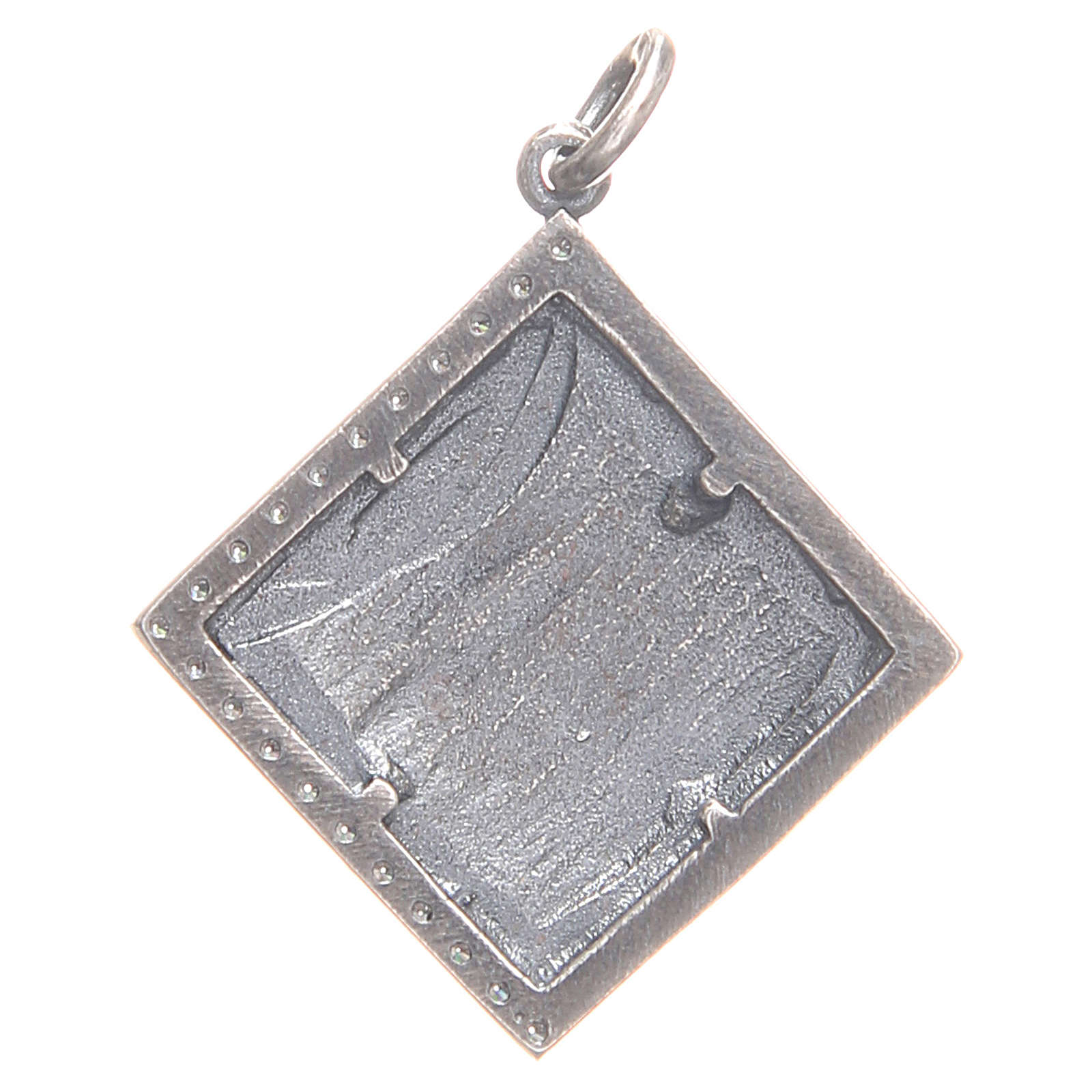 Pendant charm in 800 silver with God's Lamb 1.7x1.7cm 4