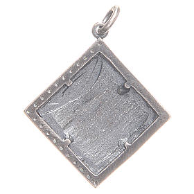 Pendant charm in 800 silver with God's Lamb 1.7x1.7cm s2