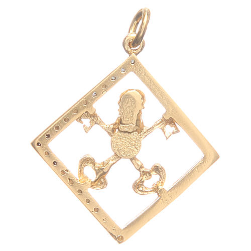 Pendant charm in 800 silver with Vatican keys 1.7x1.7cm 2
