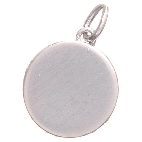 Pendant charm in 800 silver with Saint Benedict Cross 1.7x1.7cm 2