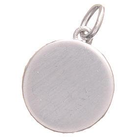 Medaglietta argento 800 Croce San Benedetto diam. 1,7 cm s2