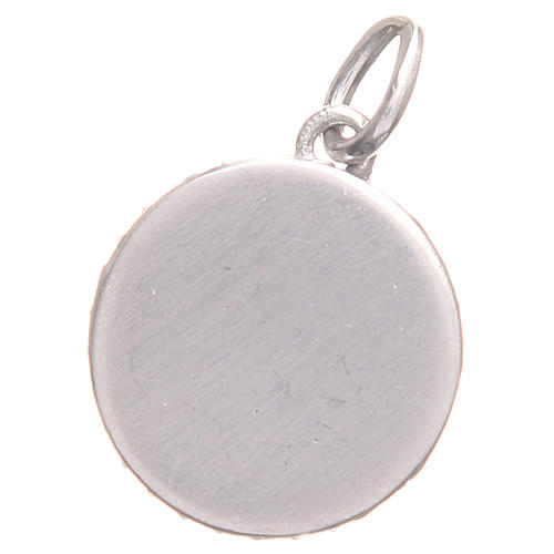 Pendant charm in 800 silver with Saint Benedict Cross 1.7x1.7cm 2