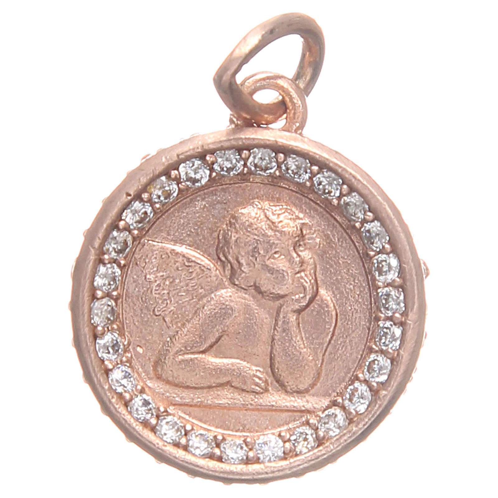 Médaille argent 800 ange Raphaël diam 1,6 cm 4