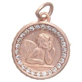 Médaille argent 800 ange Raphaël diam 1,6 cm s1