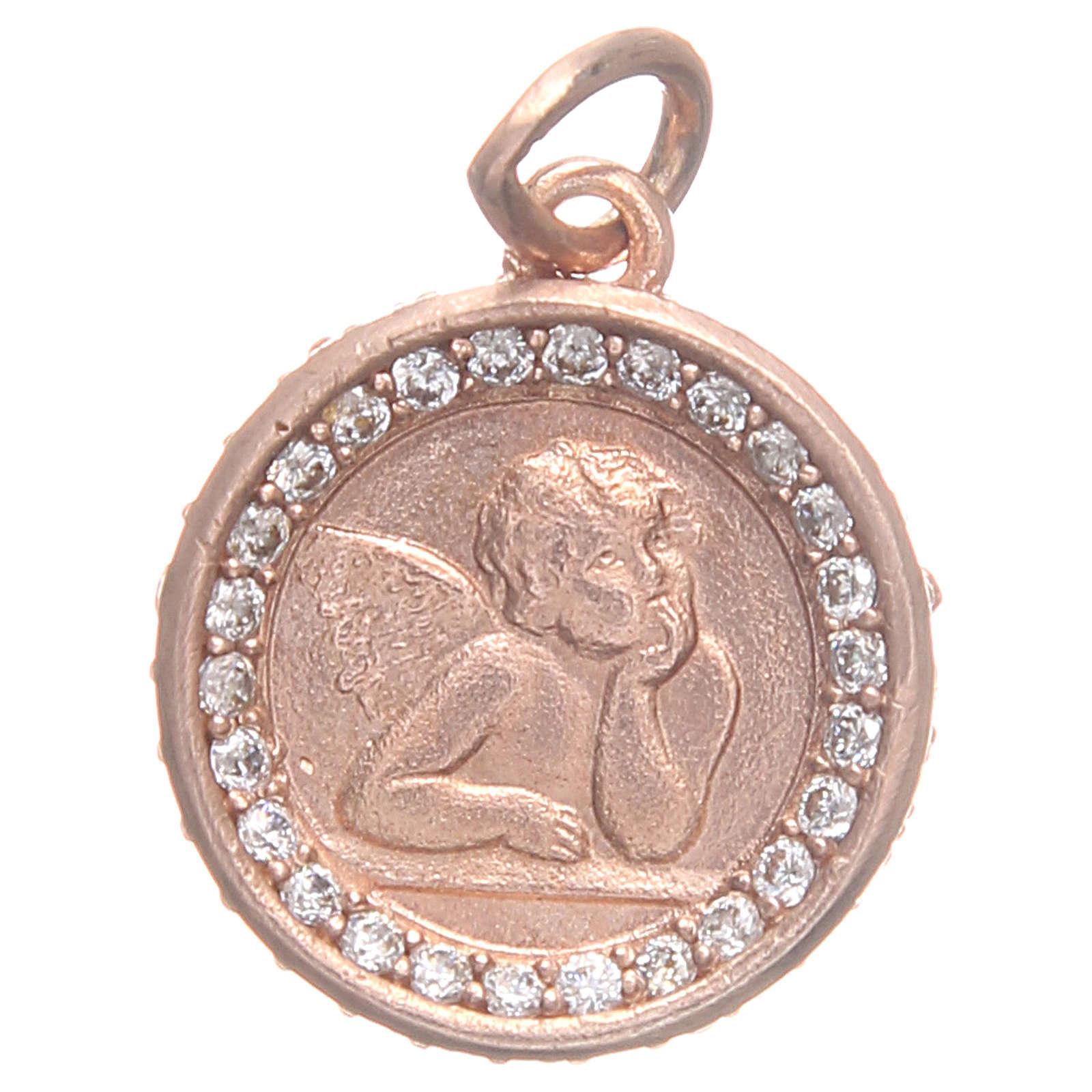 Medaglietta argento 800 Angelo Raffaello 1,6 cm 4