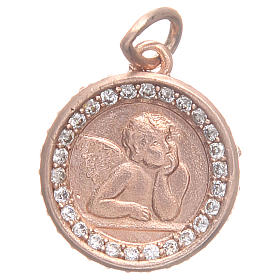 Medaglietta argento 800 Angelo Raffaello 1,6 cm s1