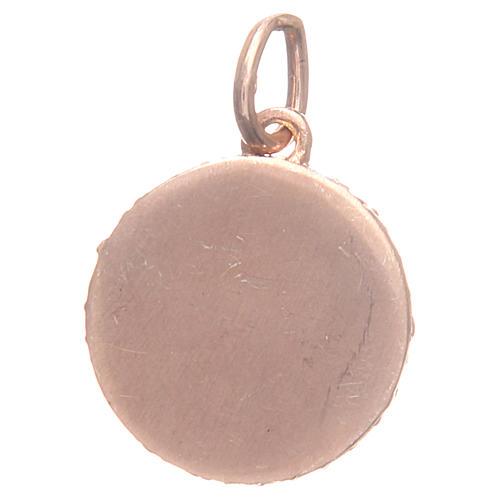 Medaglietta argento 800 Angelo Raffaello 1,6 cm 2