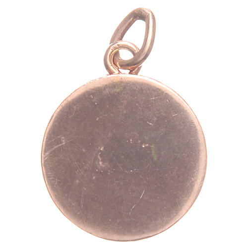 Pendant charm in rose 800 silver with Pax symbol 1.7cm 2