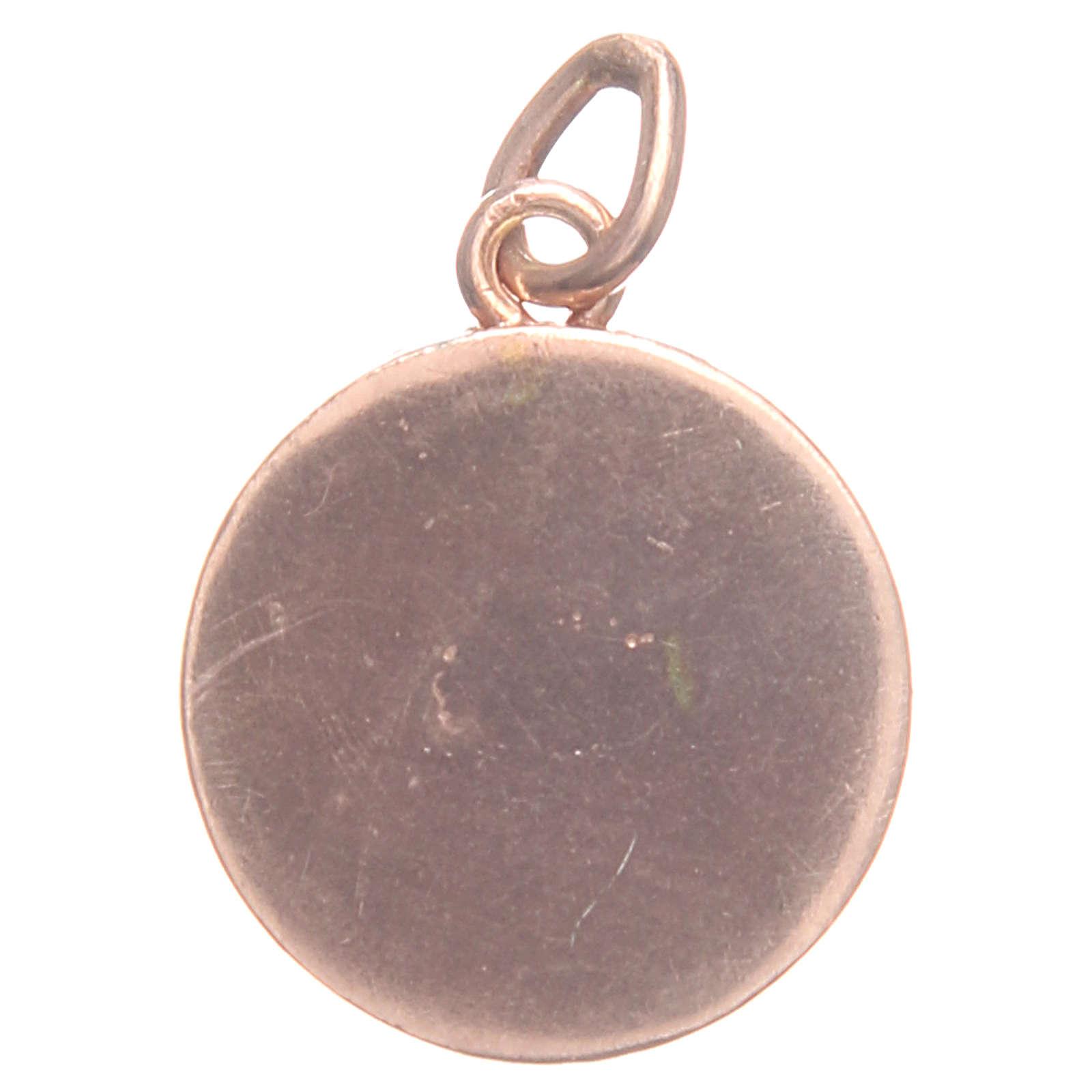 Medalha prata 800 símbolo Chi-Rho 1,7 cm 4