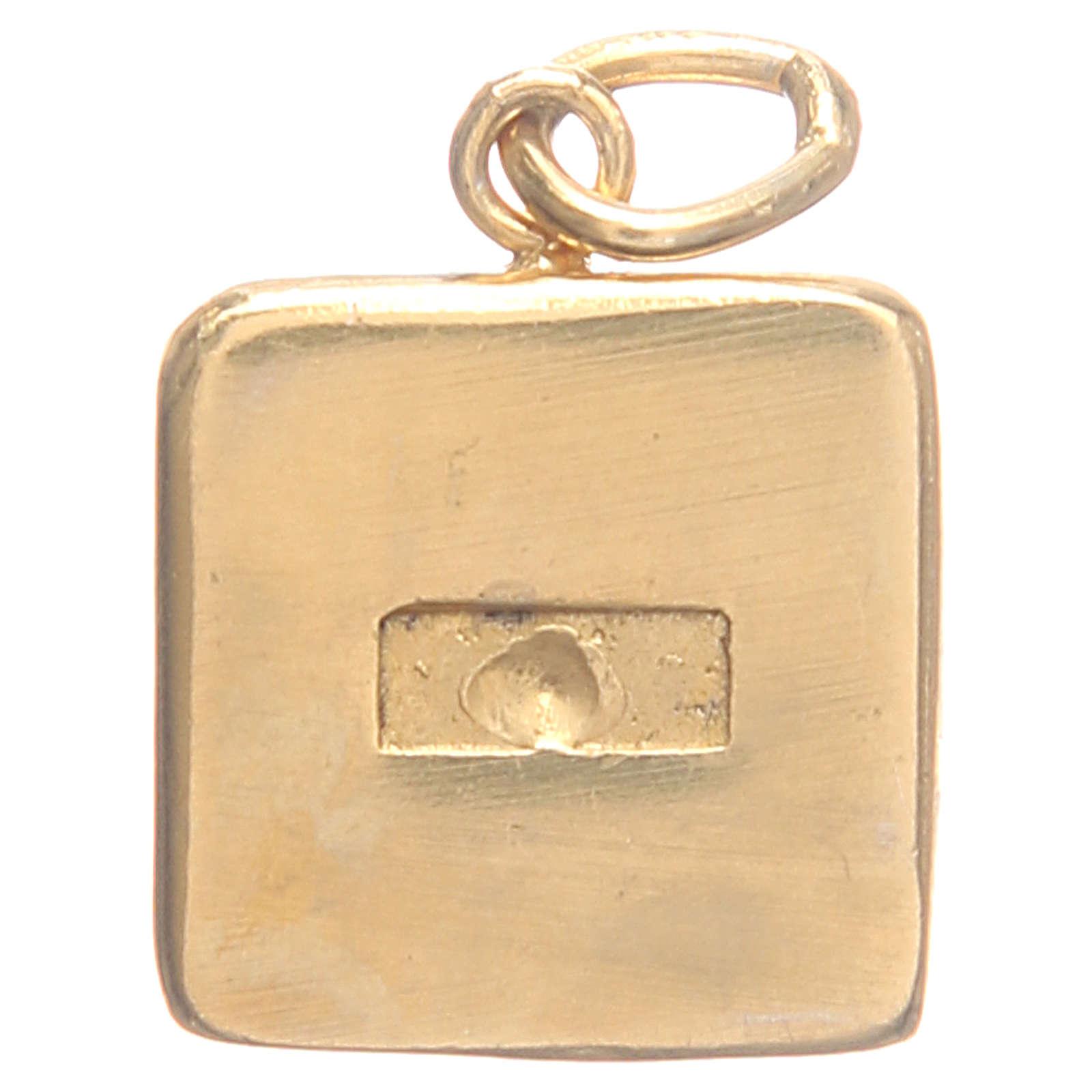 Medalha prata 800 Chaves Vaticano 1,5x1,5 cm 4