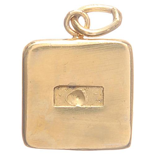 Medalha prata 800 Chaves Vaticano 1,5x1,5 cm 2