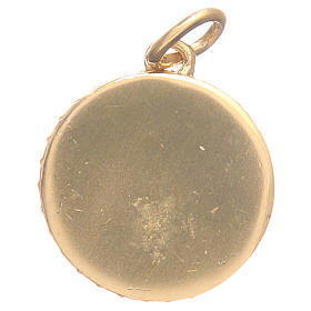Medal in gold plated brass with Our Lady of the Miraculous medal 1.7cm s4