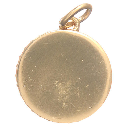 Medal in gold plated brass with Our Lady of the Miraculous medal 1.7cm 2