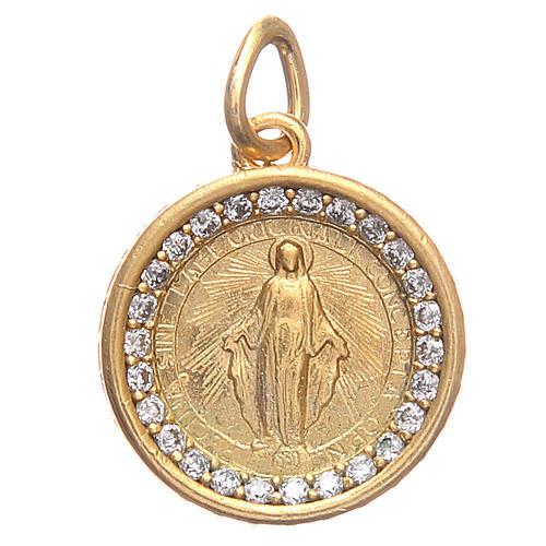 Medalla plata 800 Virgen Milagrosa 1,7 cm 1