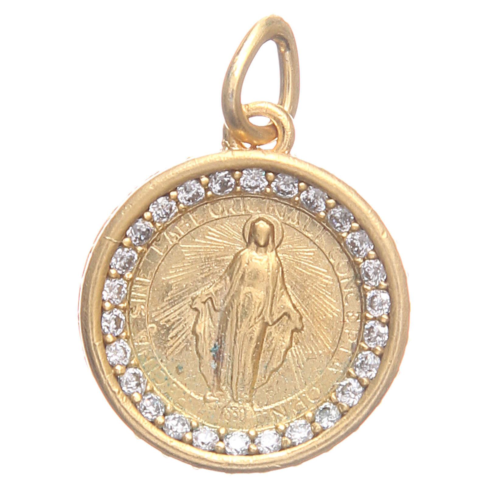 Medaglietta ottone Madonna Miracolosa 1,7 cm 4