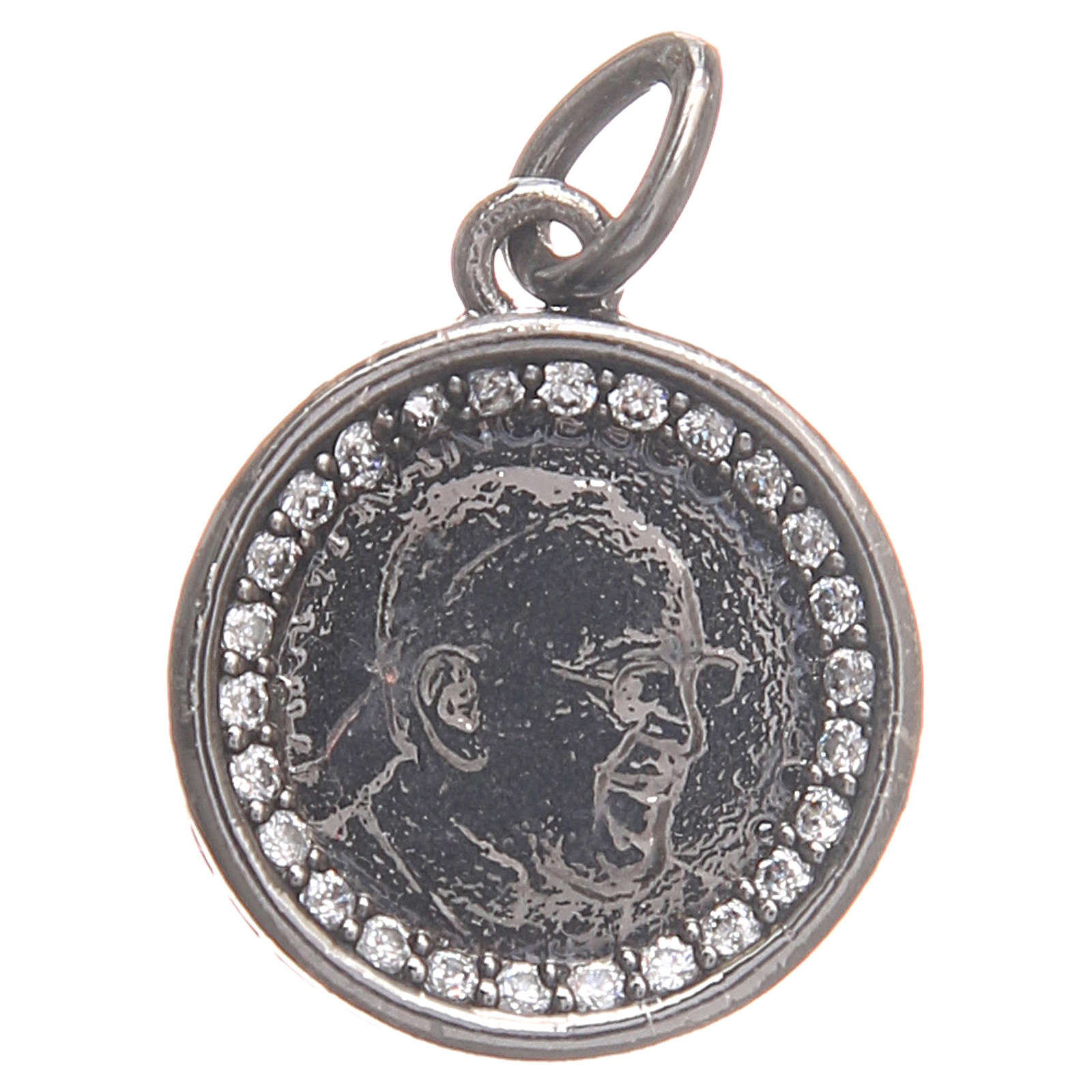 Medal in 800 silver with Pope Francis 1.7cm 4