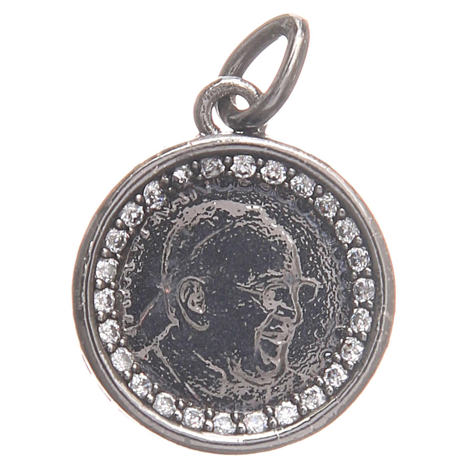 Medaglietta ottone Papa Francesco 1,7 cm 4