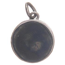Medalha prata 800 Papa Francisco 1,7 cm s2
